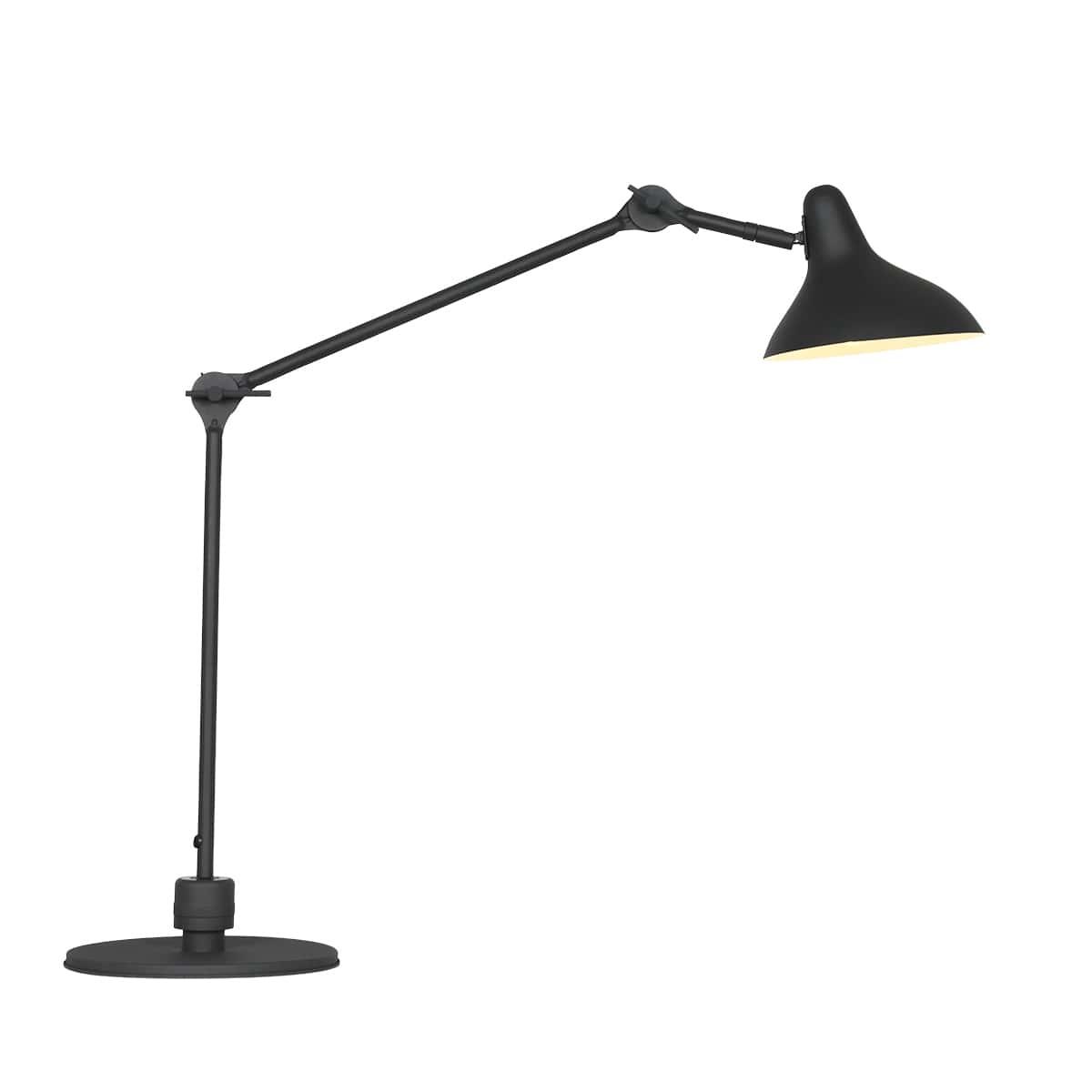 Retro Design Tischlampe schwarz