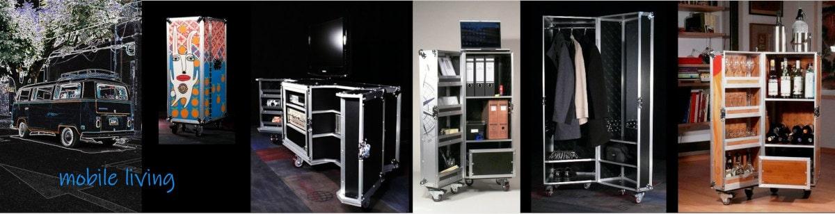 Flightcase Möbel Rollcontainer Beispiele Einrichtung