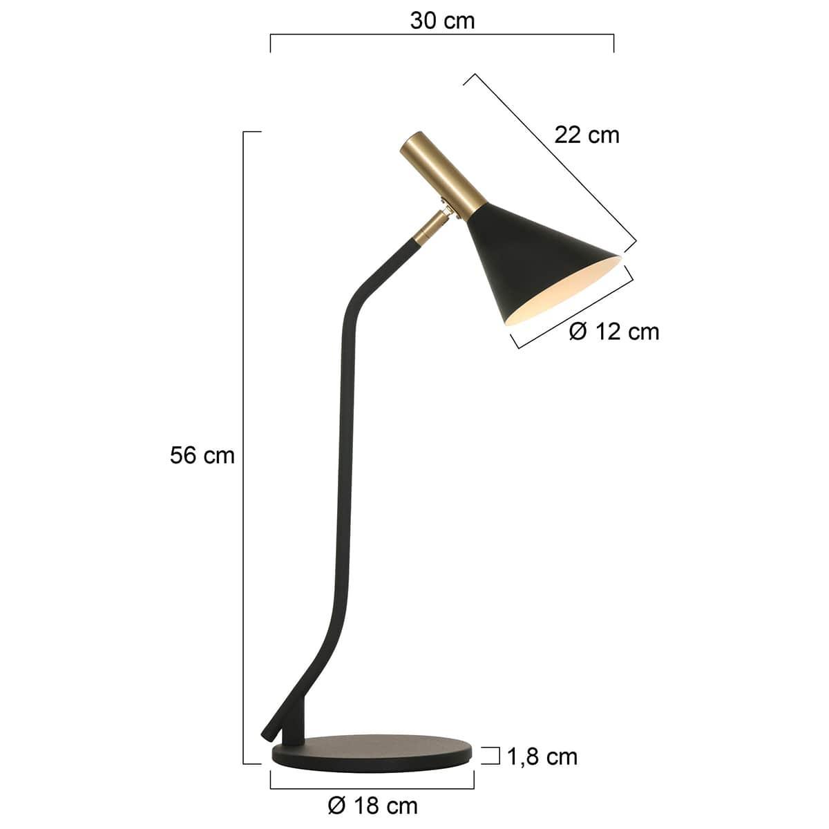 Tischlampe Mid Century Design Abmessungen
