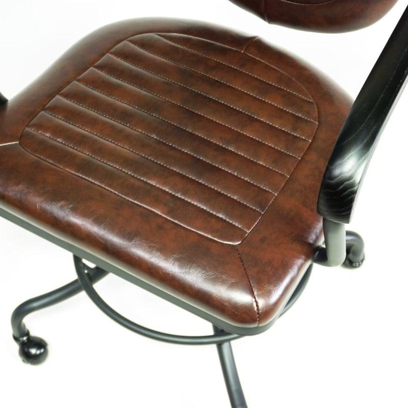 Bürostuhl gepolstert Vintage Industrial auf Rollen