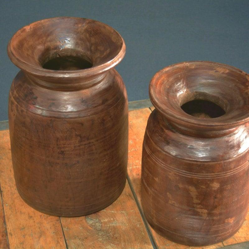 Teakholz Wasserkrug Deko-Objekt echt alt