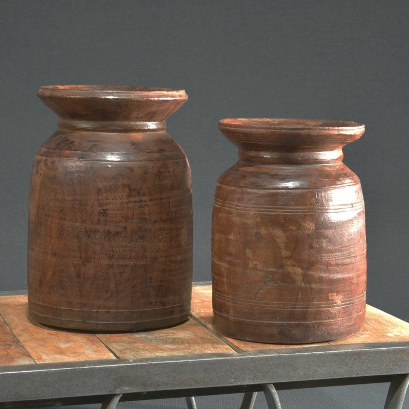 Original alter Wasserkrug aus Indien für Trockenblumen