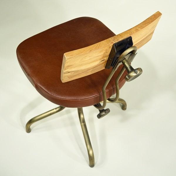 Drehstuhl Sitz gepolstert Leder