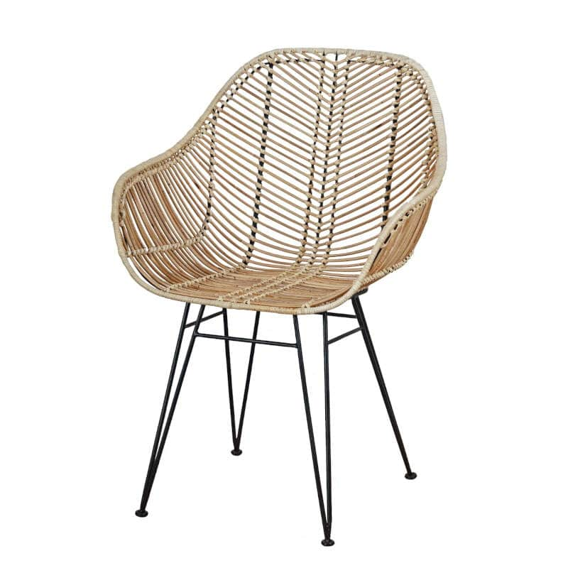 Rattan Armlehnstuhl Skandinavisches Design