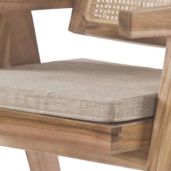 Sitzauflage 44x46cm sandfarben