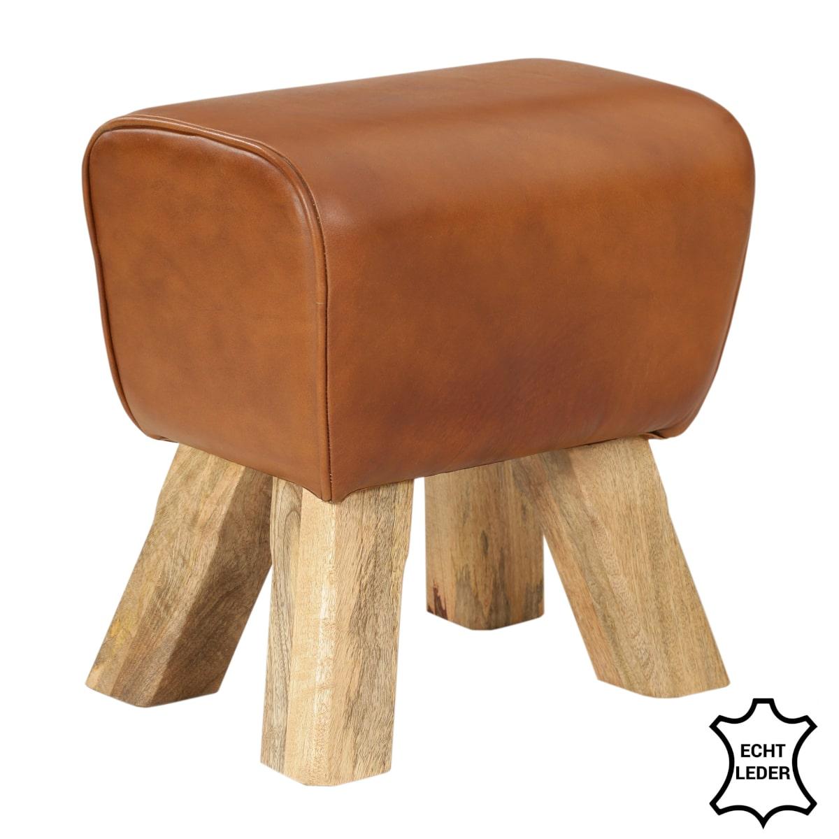 Turnbock Hocker Büffelleder