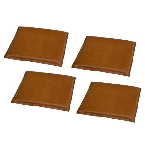 Büffelleder Sitzkissen braun 4 Stück