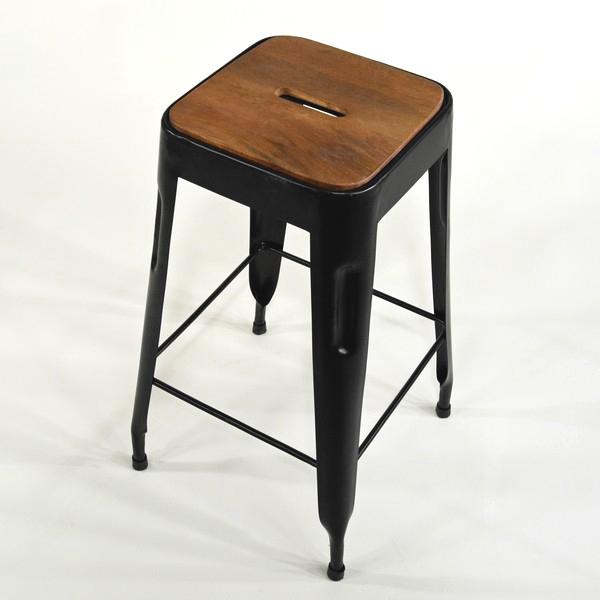 Hocker shabby schwarz 65cm Sitzhöhe