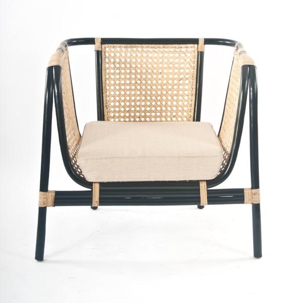 Bambus Rattan Lounge-Sessel gepolstert