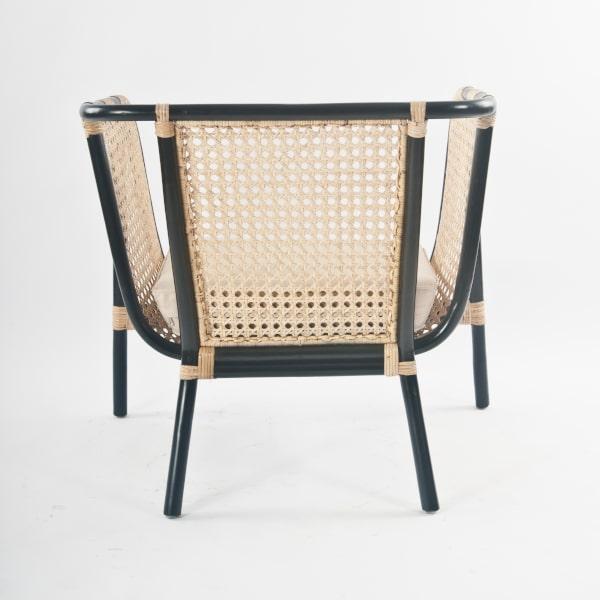 Lounge Sessel Retro Design Natur-Rattan
