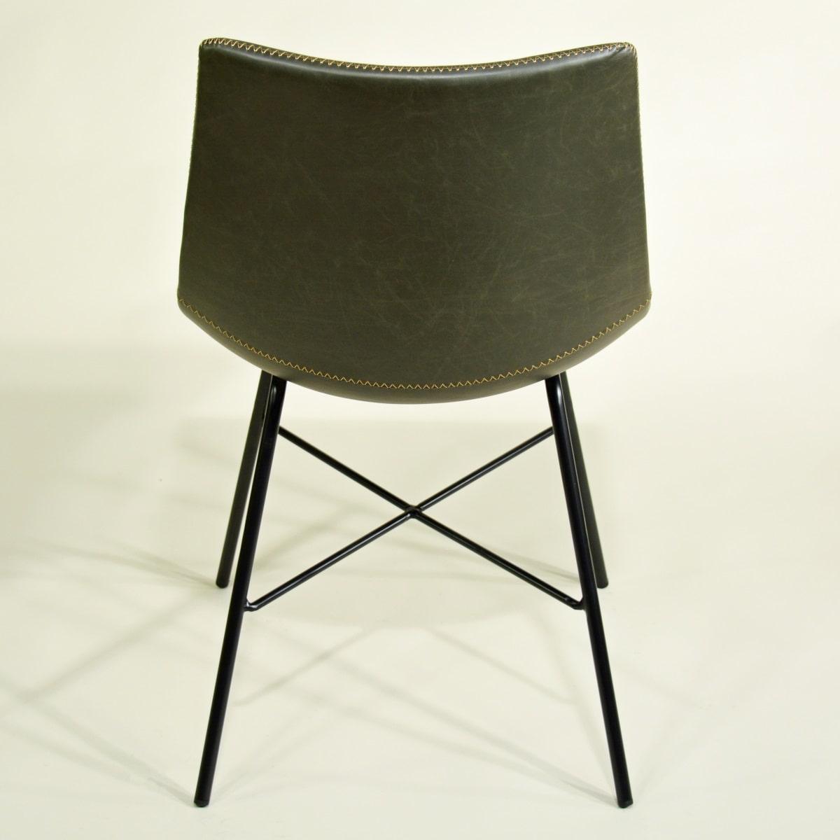 Stuhl dunkel grau gepolstert Fabrikschick