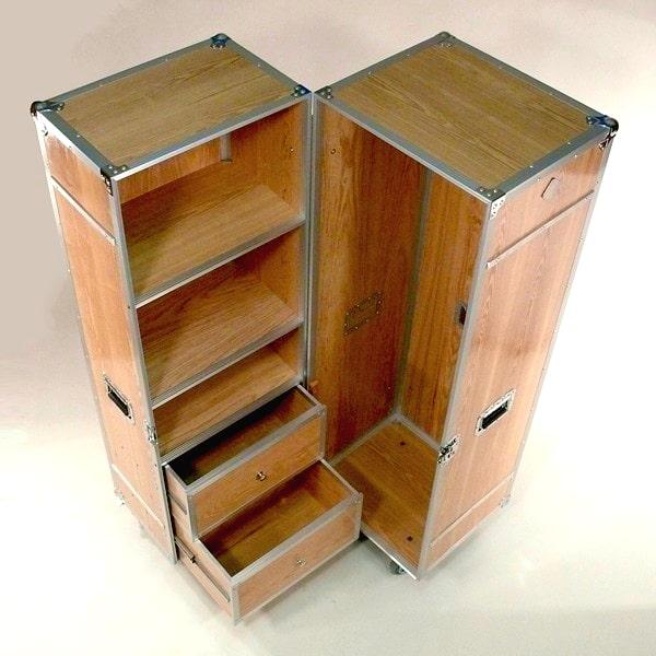 Wardrobe-Case Elm Wood FlightCase