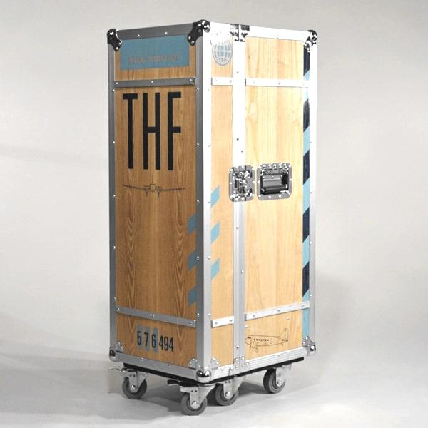 Tempeflhof Rollschrank Holz Alu Flightcase