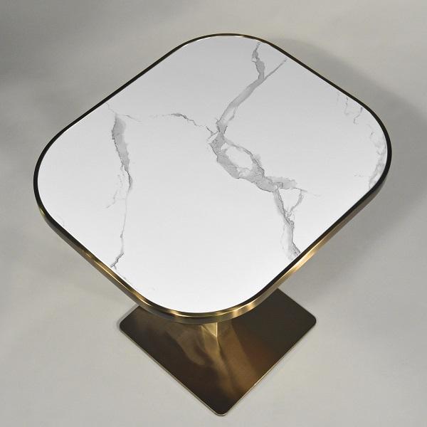 Schicker Esstisch Keramik-Marmor weiss