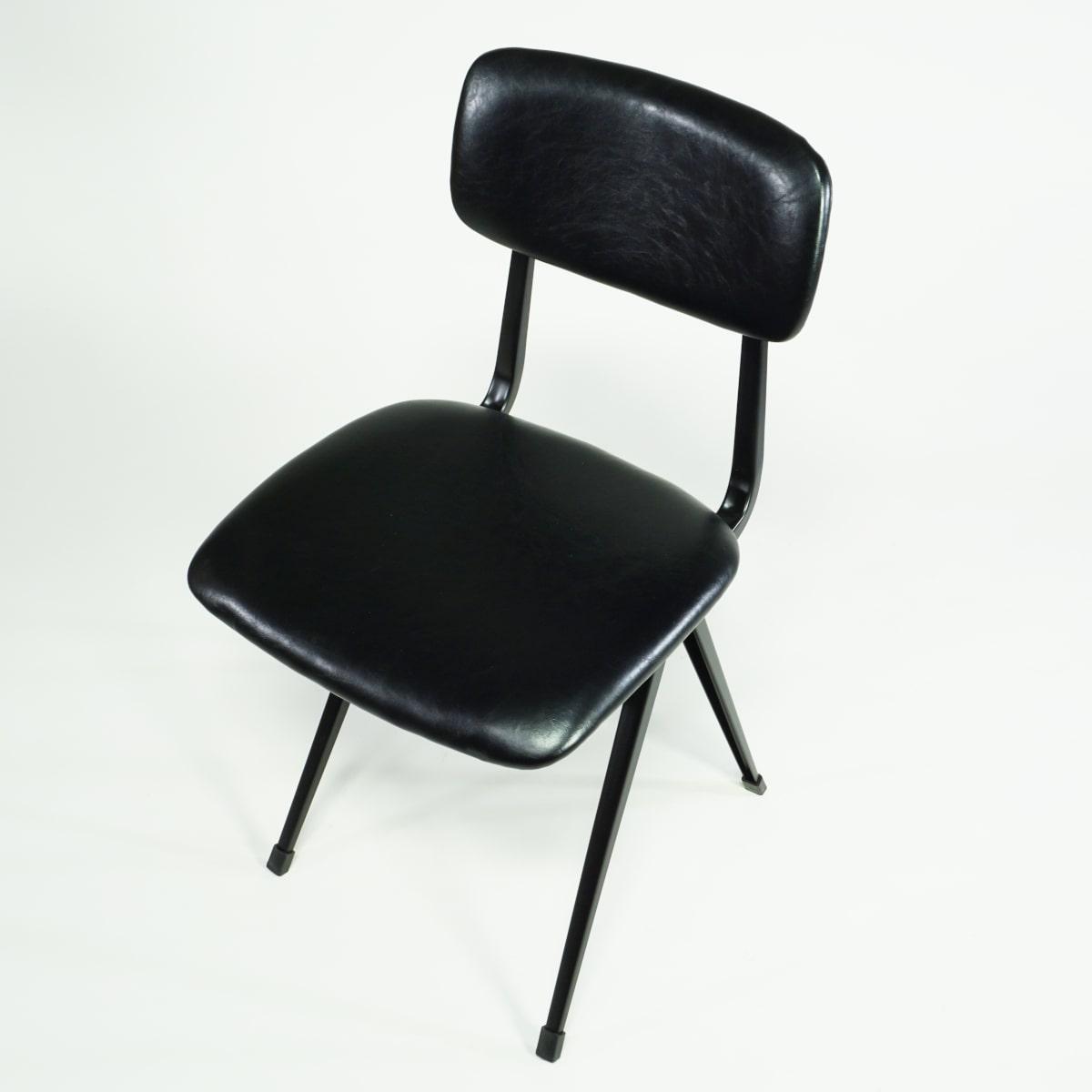 Stuhl Industrial Vintage Design schwarz