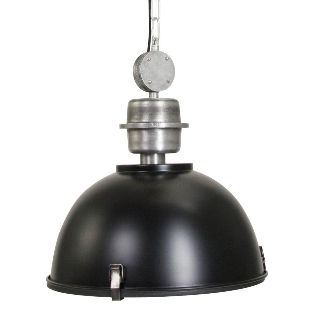 Retro Industriehallen-Deckenlampe schwarz