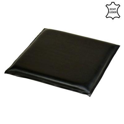 Echtleder Sitzkissen schwarz