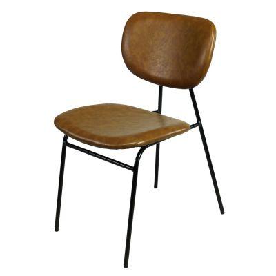 Vintage Stil Esszimmerstuhl braun