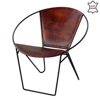 Vintage Retro-Lounge Sessel Leder