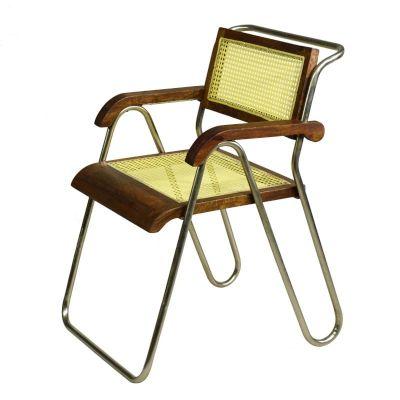 Stuhl Bauhaus Design Wiener Geflecht