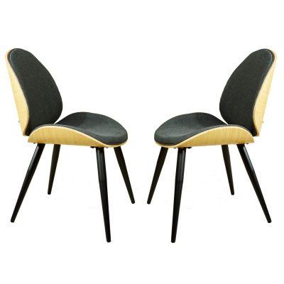 Formholz Stühle Retro Design Polster anthrazit