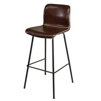 Barhocker gepolstert Vintage Stil Braun