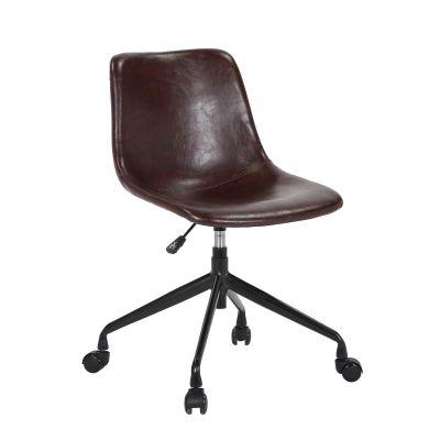 Bürostuhl Vintage gepolstert auf Rollen