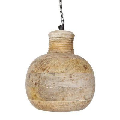 Deckenlampe aus Mangoholz Natur