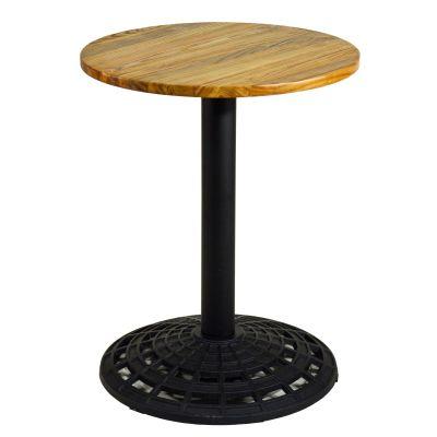 Gastro-Tisch Vintage Holz rund und klein