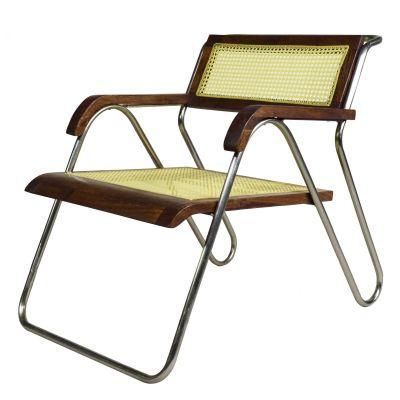 Bauhaus Lounge-Chair mit Wiener Geflecht