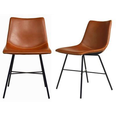 Braune Stühle gepolstert Urban Industrial Stil