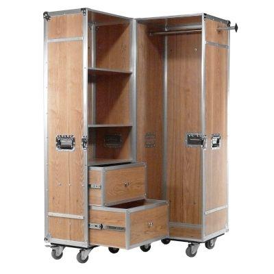 Garderoben-Schrank auf Rollen Holz