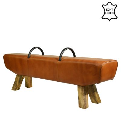 Extralange Turnmöbel-Bank aus Büffelleder